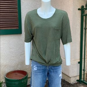 Nordstrom sanctuary olive green loose tee